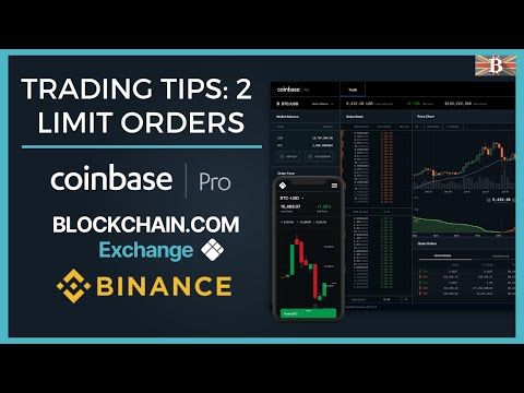 Crypto Trading Tip 2: Limit Orders Explained - Coinbase Pro, Blockchain & Binance