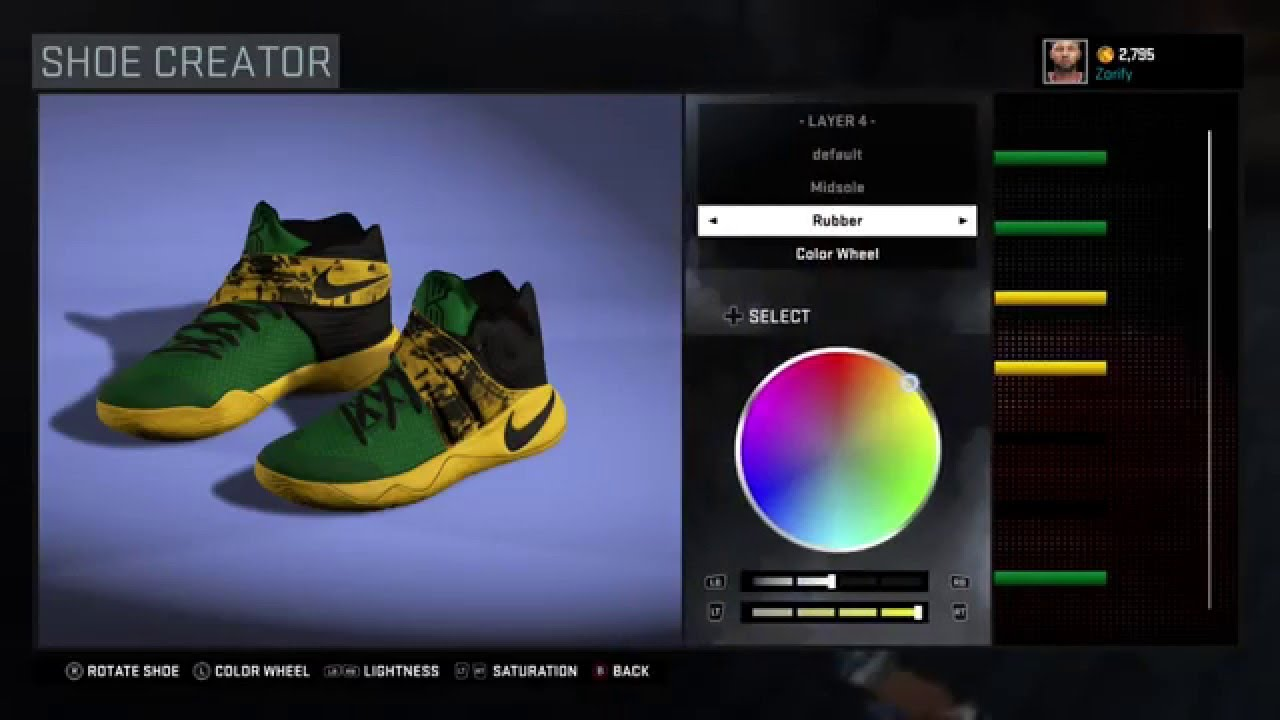 purchase cheap 0dd15 53e8e ... where can i buy nba 2k16 shoe creator nike kyrie 2 custom seattle  supersonics fdedc 3b0cb