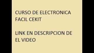 DESCARGA CURSO DE ELCTRONICA BASICA CEKIT EN PDF