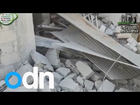 Amateur video purports to show result of Syrian air strike in Palmyra
