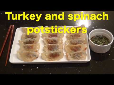 Turkey and Spinach Potstickers (dumplings)