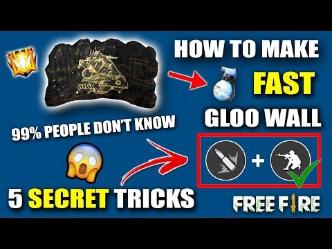 Top 5 Fast Gloo Wall Tips & Tricks    ज़हर Tricks    How To Make Fast Gloo Wall    Garena Free Fire