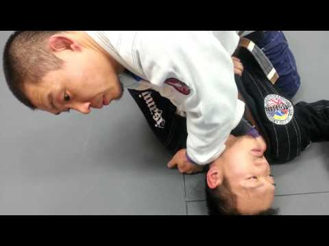 マウントからクロスチョーク - ブラジリアン柔術