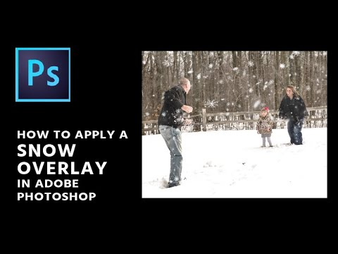 How To Apply A Snow Overlay In Photoshop
