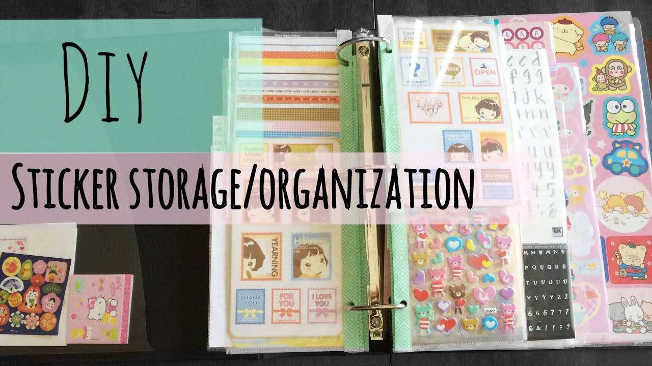 Diy Sticker Storage And Organization Tutorial Youtube