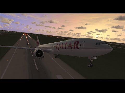 FSX | IVAO | Düsseldorf - Doha | Qatar Airways Boeing 777-300ER [GER | ENG]