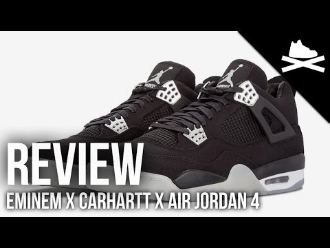 cheap for discount 29b63 24271 Eminem X Carhartt X Air Jordan Retro 4 Video Review