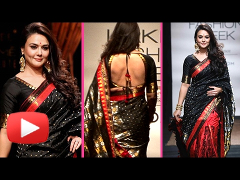 Preity Zinta Desi Look - Backless Blouse | Lakme Fashion Week 2017 | Day 2
