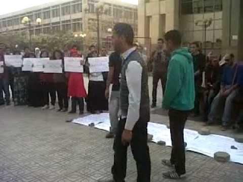 تمثيل طلاب جامعه القاهره للقاءهم مع الوزير