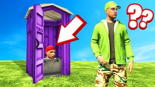 He Was HIDING In A TOILET! (GTA 5 Hide And Seek)
