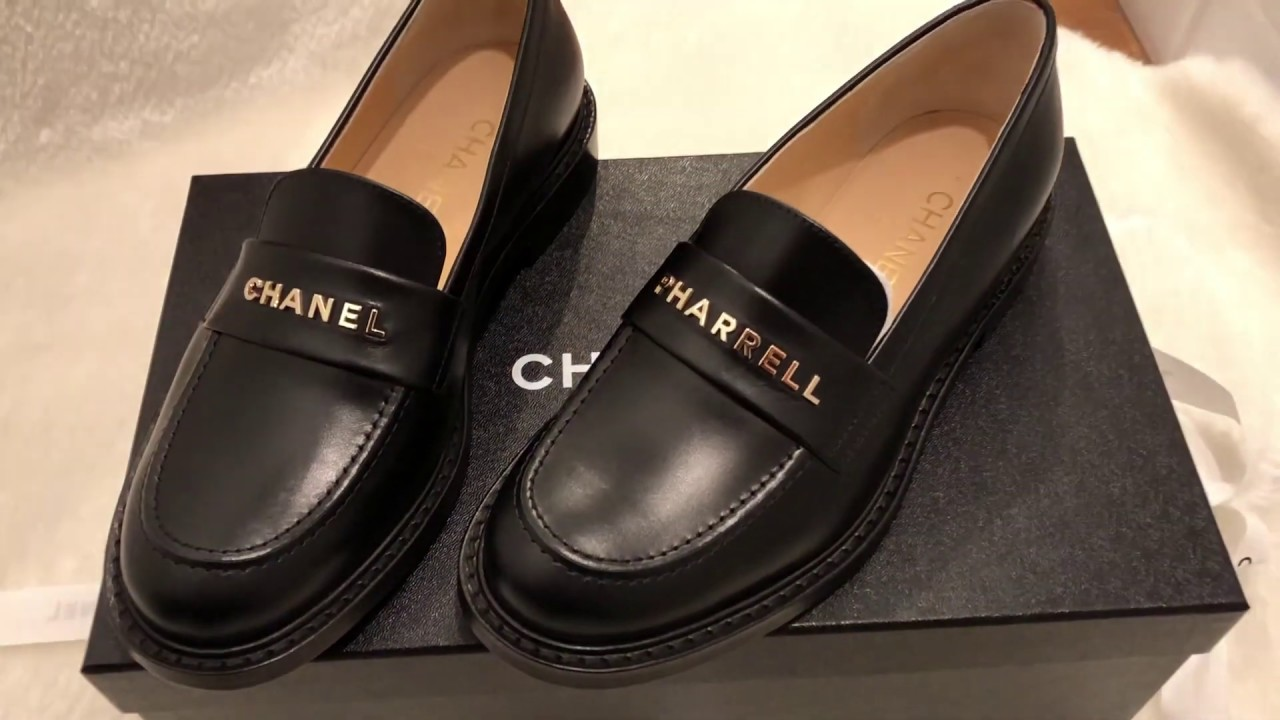 Chanel x Pharrell shoes Unboxing - YouTube