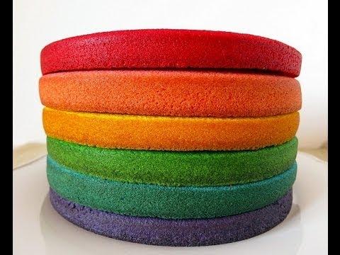 Bizcochos de colores 139 youtube - Como hacer colores ...