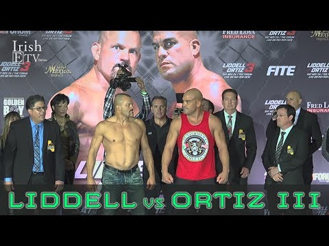 Liddell vs Ortiz III - The Fighters Weigh In and Exchange Looks Before The Fight!