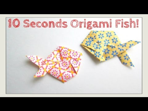 Slower Tutorial Version Fold Origami Fish In Under 10 Seconds