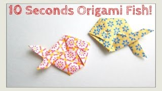 SLOWER TUTORIAL VERSION - Fold Origami Fish in Under 10 Seconds - Jeremy Shafer - Easy