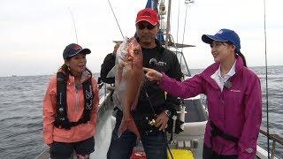 杉原正浩さんと釣女ちゃこが出雲の海でタイラバとジギングで根魚を狙い...