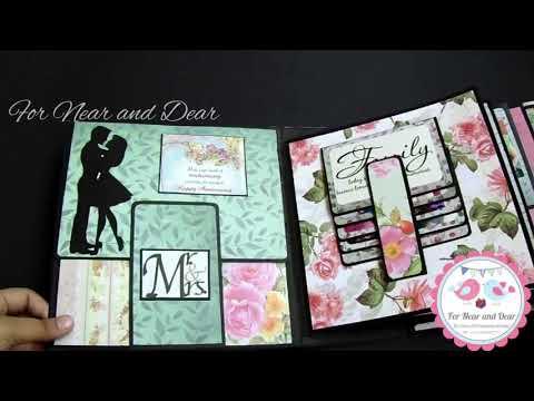 Best Anniversary Scrapbook album - Best Anniversary Gift- Handmade Scrapbook ideas