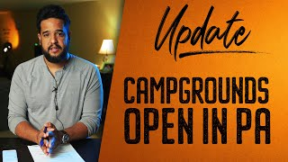 UPDATE FROM THE PENNSYLVANIA CAMPGROUND OWNERS ASSOCIATION