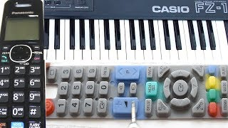 How to fix rubber membrane buttons on Remote Control, Cordless Phone, Digital Piano & Keyboard
