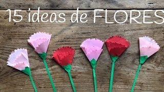 15 manualidades de FLORES para niños | Ideas para el día de la madre