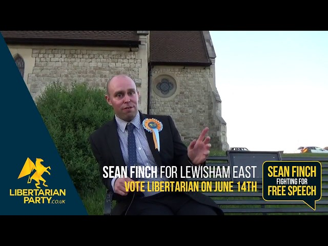 Sean Finch fighting for free speech in Lewisham East