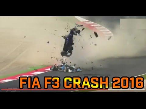 F3 Crash 2016 Red Bull Ring Pedro Piquet Ryan Tveter Peter Li