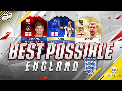 THE BEST POSSIBLE ENGLAND SQUAD! w/ TOTS KANE and iMOTM GERRARD! | FIFA 16