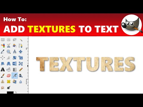How To: Add Textures to Text On GIMP