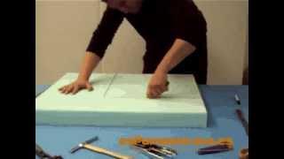 Cómo cortar una pieza de espuma