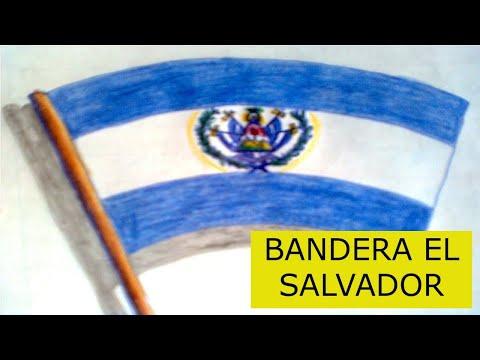 Como Dibujar La Bandera De El Salvador Youtube