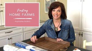DIY: Erstellen einer Benutzerdefinierten Dekorativen Tablett mit Tapete| Finding Home Farmen