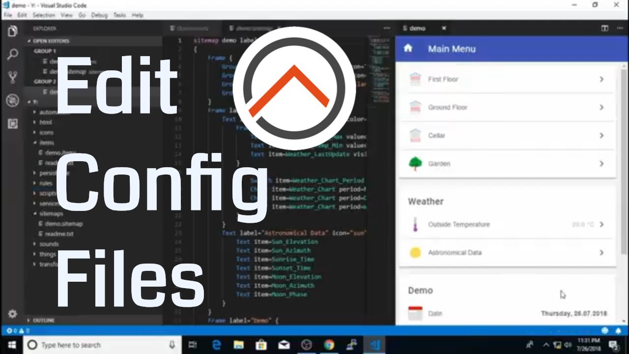 openHAB 2 Basics - Editing Configuration Files | Installing Visual Studio  Code