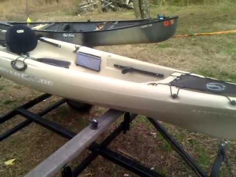 Mad river synergy 12 fishing kayak youtube for Mad river fishing