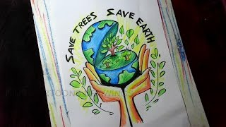 Download How To Draw Save Earth Save Nature Save Trees Save