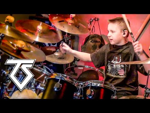 WE'RE NOT GONNA TAKE IT (10 year old Drummer) Drum Cover by Avery Drummer Molek
