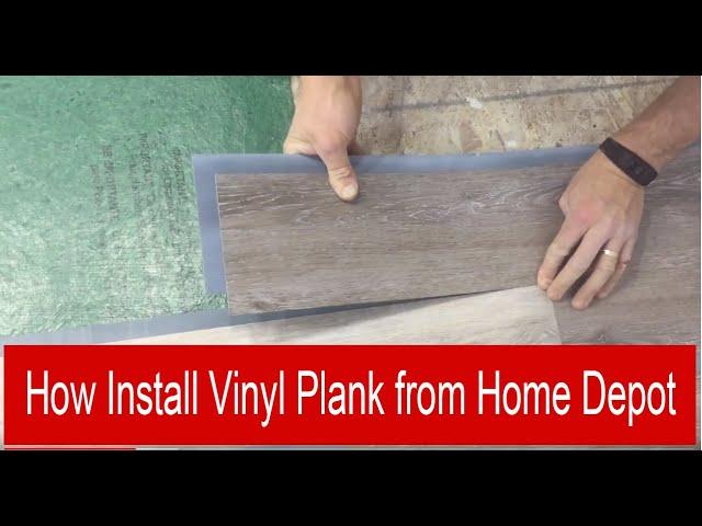 Install Vinyl Plank From Home Depot Hd, Vinyl Laminate Flooring Home Depot