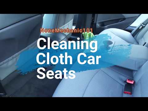 Cleaning Cloth Car Seats For $1.00