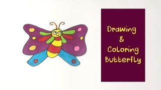 How to Draw Butterfly Coloring Pages | Youtube Videos Kids Learning | Coloring Pages | Baby Videos