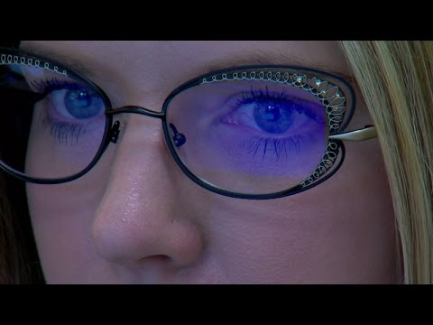 """""""Blue Light"""" glasses reducing strain from looking at digital screens"""