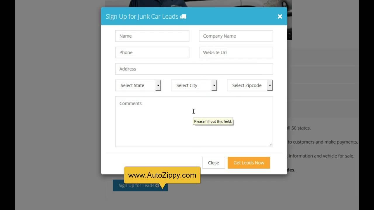 Cash for junk cars lead affiliate Program - YouTube