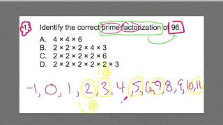 FTCE MATH #1 ~  Prime Factorization ~ GOHmath.com