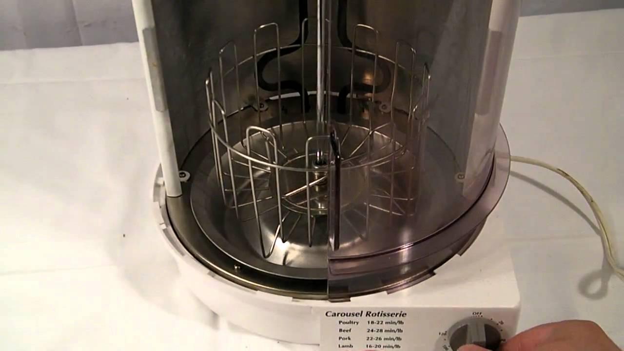 sunbeam vertical carousel rotisserie oven