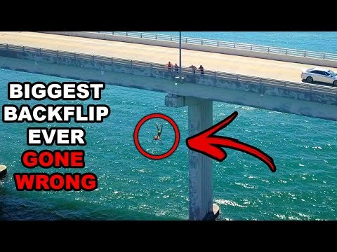 I ALMOST DIED DURING MY BIGGEST BACKFLIP EVER!! (Arrested) F
