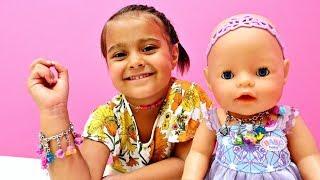 Кукла Беби Бон: Делаем БРАСЛЕТ и БУСЫ для #БебиБон и Маша #Миними 💛 Развивающий мультик Baby Born