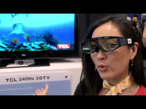 CES 2010 TCL 3D TV with glasses