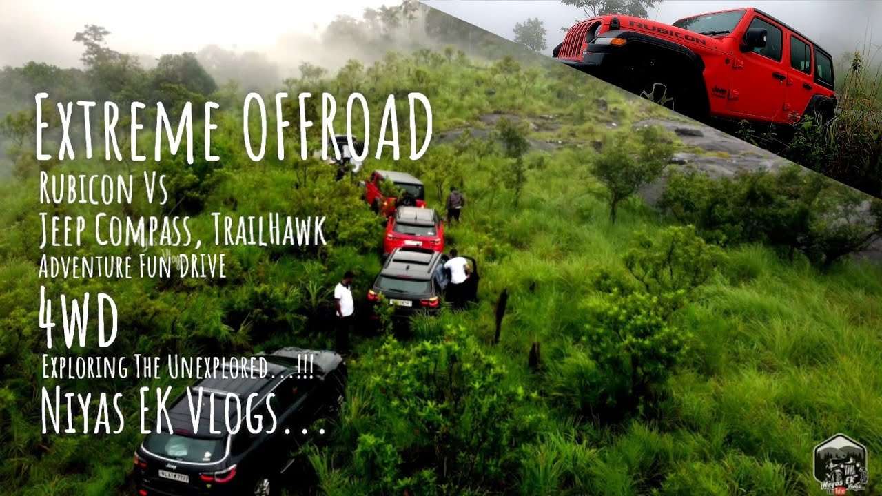 Jeep Rubicon Vs Jeep Compass, Trailhawk Extreme OFFROAD Part 2.
