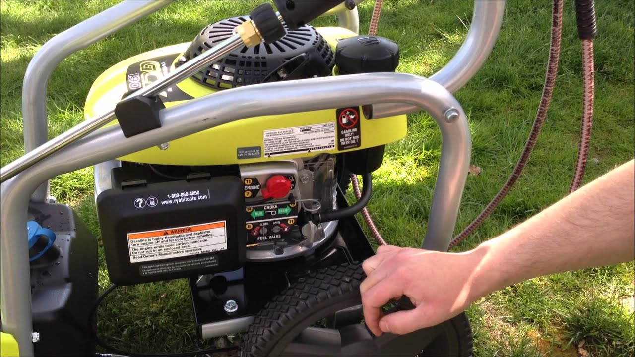 Ryobi 3100 Psi 2 5 Gpm Gas Pressure Washer Youtube