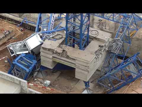 Упал строительный кран в Химках 05.09.2017  Погибшие