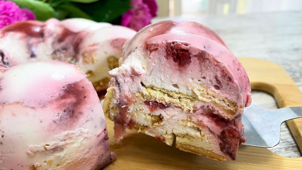 Download Tolles Dessert in 5 Minuten OHNE Backen! OHNE ZUCKER KÄSE, ERDBEERE, KEKSE! 🍓🍪