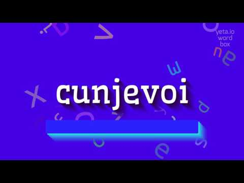 """How to say """"cunjevoi""""! (High Quality Voices)"""